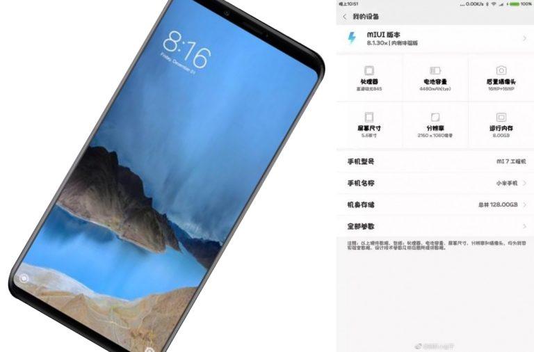 Terungkap, Spesifikasi Xiaomi Mi 7