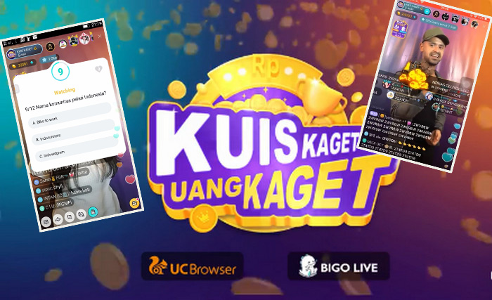 """Kolaborasi BIGO LIVE dan UC Browser Lahirkan """"Kuis Kaget Uang Kaget"""", Cobain Yuk?"""