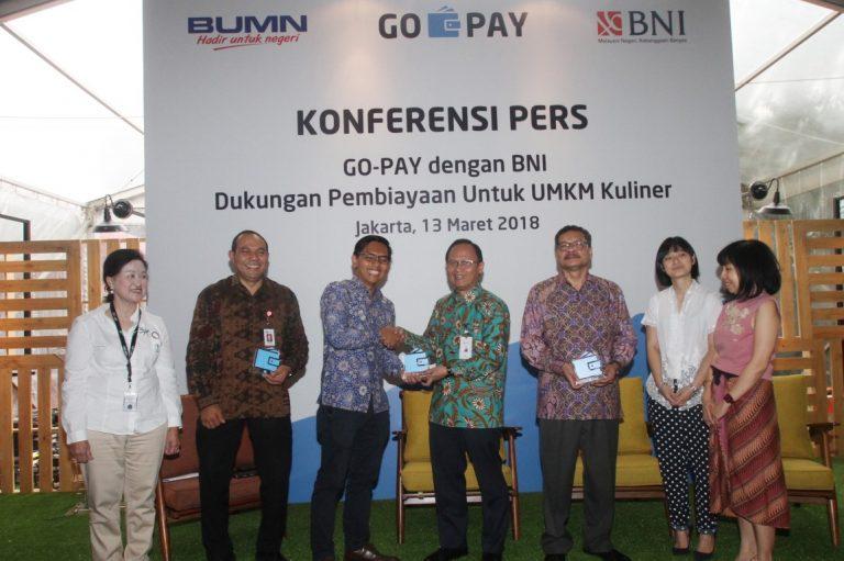 Dukung Mitra Go-Food, Go-Pay dan BNI Jalin Kerjasama Salurkan KUR