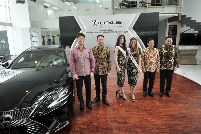Miss Universe 2017 Berkunjung ke Lexus Gallery Menteng