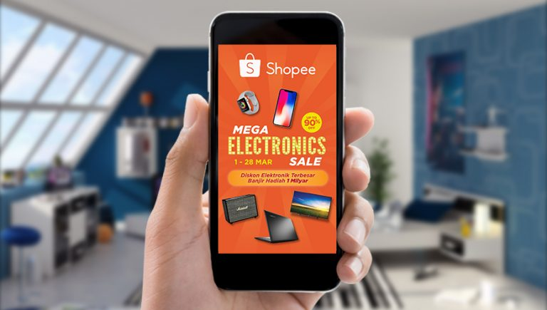 "Shopee Gelar Kampanye Elektronik Terbesar Melalui ""Mega Electronics Sale"""