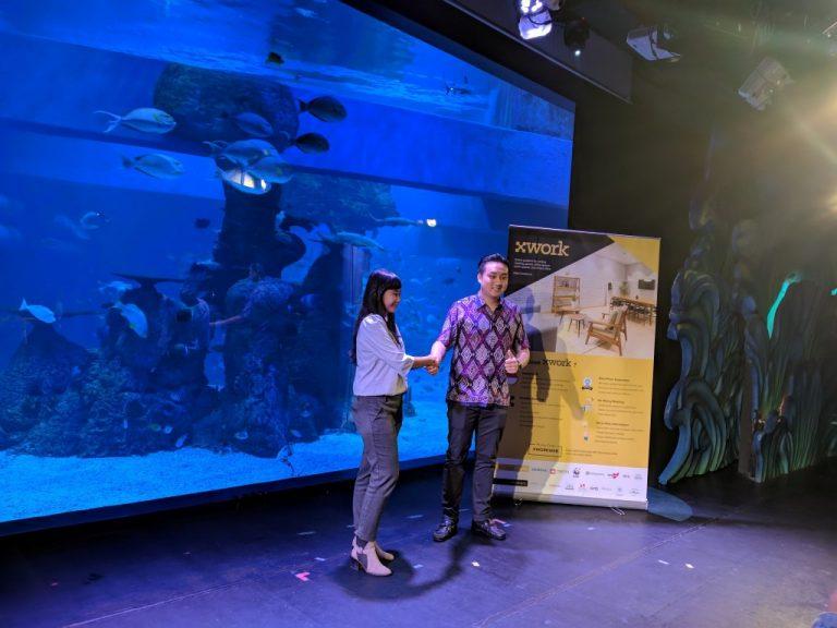 Bersama Aquarium Jakarta, XWORK Buka Tempat Meeting dengan Suasana Biota Laut