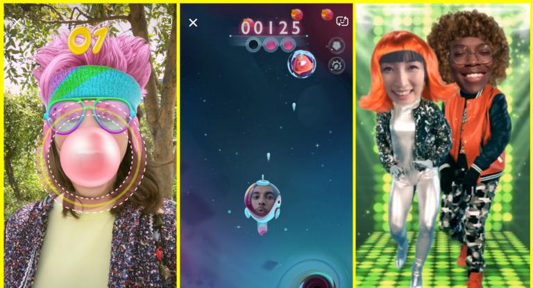 Snapchat Luncurkan Game Selfie AR, Snappables untuk Menjegal Instagram