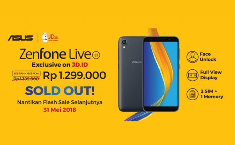 Sukses Gelar Pre Order ZenFone Live L1, Asus Lanjut ke Flash Sale