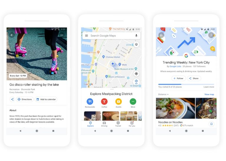Google I/O 2018: Fitur Baru 'For You' dan 'Your Match' di Google Maps. Apa Gunanya?