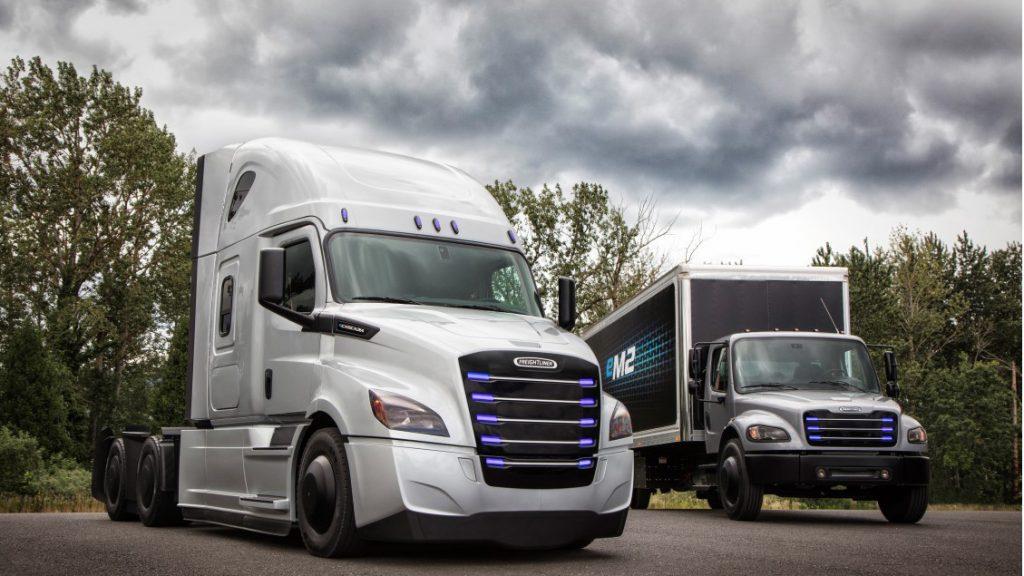 Daimler Freightliner eCascadia dan Freightliner eM2