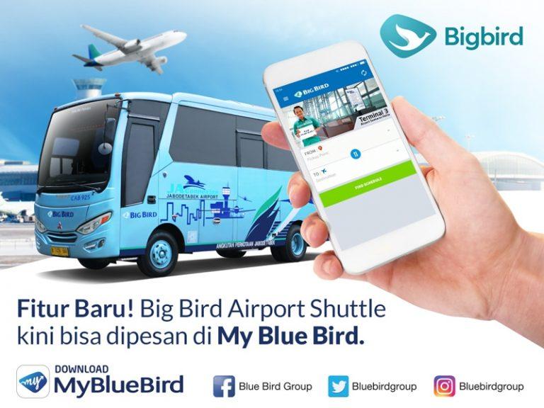 Blue Bird Hadirkan Fitur Pesan Bus Airport Shuttle di Aplikasi My Blue Bird