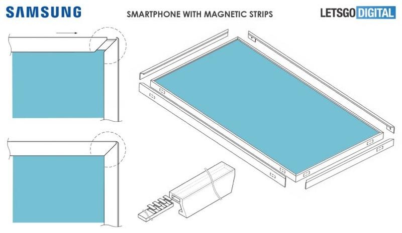 Samsung bezel-less screen patent