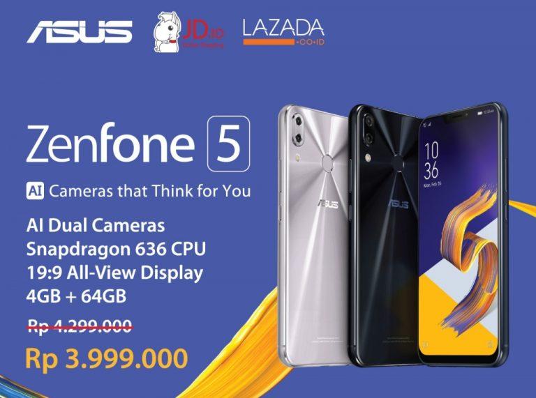 Buruan, Flash Sale Asus Zenfone 5 Dimulai 6 Juni Ini di Lazada dan JD.id!