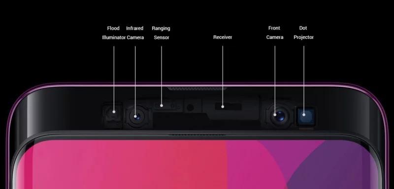 OPPO FIND X motorized selfie camera