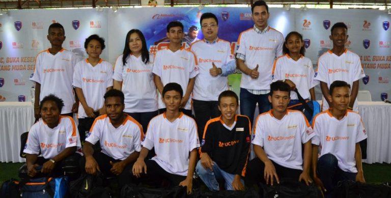 Jalin Kerjasama, UC Browser dan Uni Papua Akan Sediakan Program Pelatihan Sepakbola Intensif