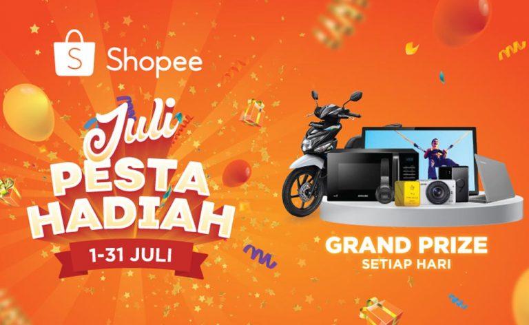 """Shopee Gelar Kampanye """"Juli Pesta Hadiah"""", Sejumlah Cashback akan Hadir Setiap Hari"""
