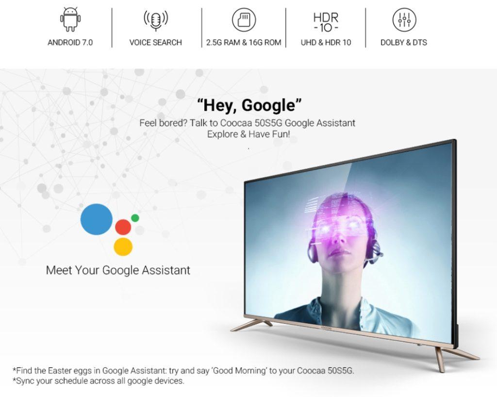 Coocaa Android TV 4K 50 inci