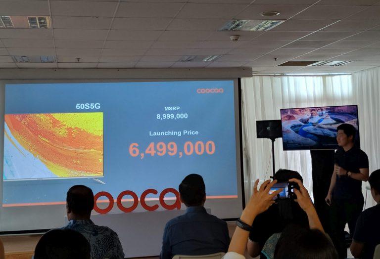 Rebranding Logo, Coocaa Luncurkan Android TV 4K 50 Inci Harga 6,5 Juta Rupiah di Lazada!