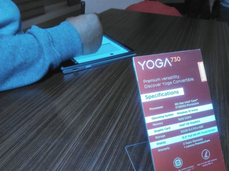 Lenovo Hadirkan Yoga 730, Laptop Convertible Premium Targetkan Profesional Muda