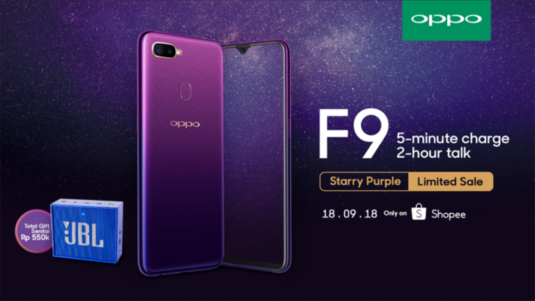 Hari Ini OPPO Keluarkan Starry Purple, Warna Baru OPPO F9