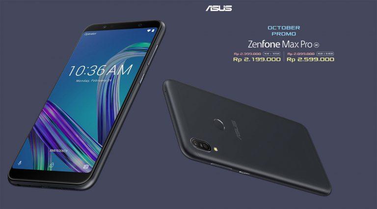 Promo Oktober, Asus ZenFone Max Pro M1 4GB/64GB Jadi Rp 2.399.000