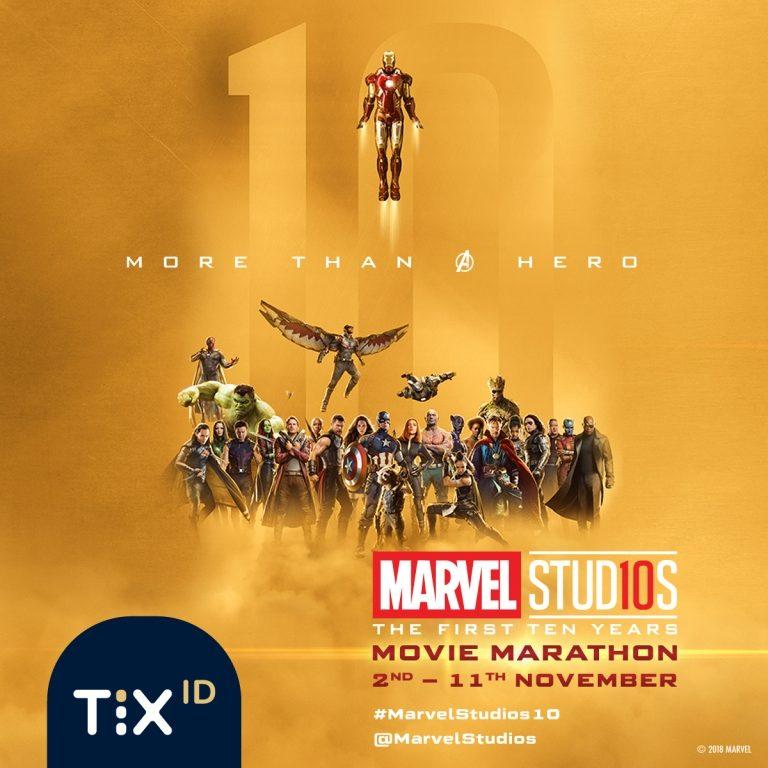 Ulang Tahun Ke-10 MCU, TIX ID dan DANA Meriahkan Nonton Marathon 10 Film Marvel