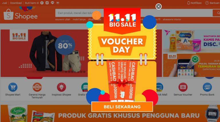 Hari Ini, Shopee Mulai Gelar Festival Belanja 11.11 Big Sale