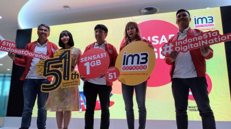 Rayakan HUT Ke-51, Indosat Ooredoo Bagi-bagi Kuota 1 GB Seharga 51 Rupiah!