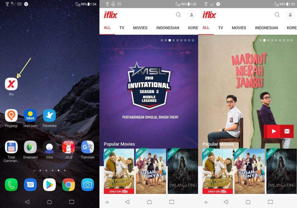 iflix mobile web PWA