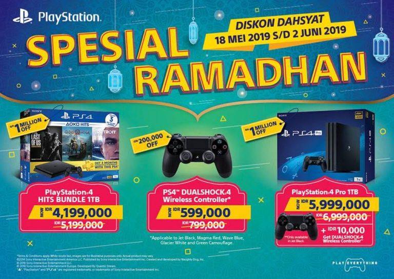 Jangan Lewatkan! Sony PS4 Promo Ramadan. Tawarkan Diskon Hingga 1 Juta Rupiah