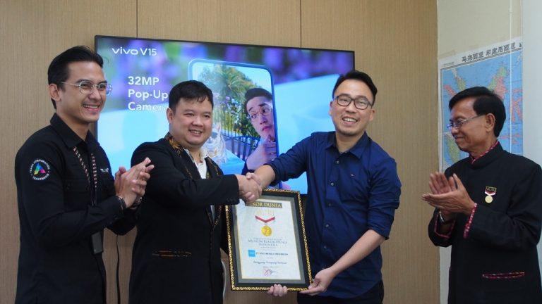 Peluncuran Vivo V15 di Purwakarta Berhasil Masuk Rekor MURI