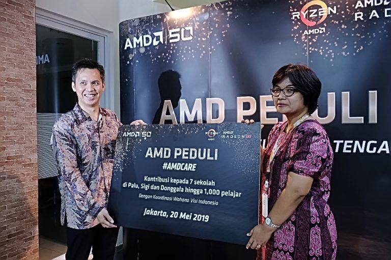 AMD Donasikan Perangkat Teknologi untuk Sekolah Terdampak Bencana di Sulteng