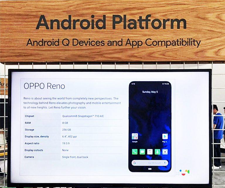 Di Google I/O, OPPO Pamerkan Reno dengan Dukungan Android Q dan Kemampuan 5G