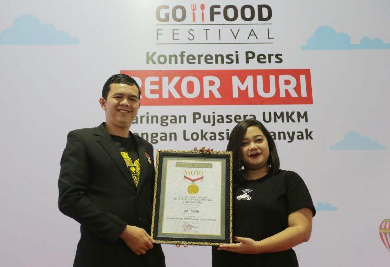 GO-FOOD Festival Cetak Rekor MURI sebagai Jaringan Pujasera UMKM dengan Lokasi Terbanyak di Dunia