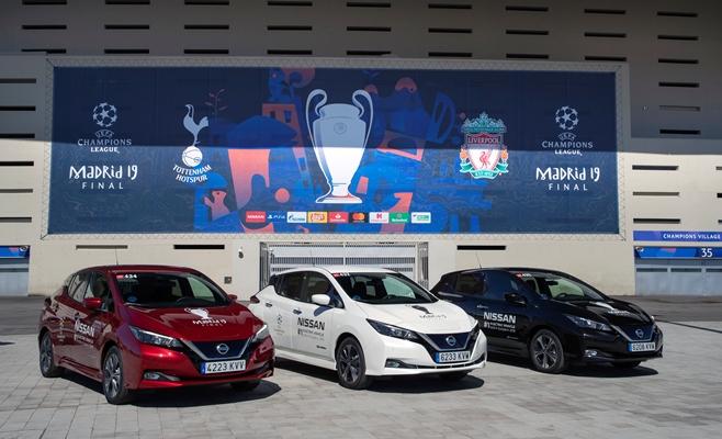 Ramaikan Final UEFA Liga Champions, Nissan Sediakan 300-an Kendaraan Nol Emisi di Kota Madrid