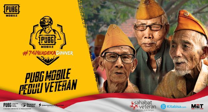 """Apresiasi Kiprah Veteran Tanah Air, PUBG Mobile Menggelar """"PUBG Mobile 74 Merdeka Dinner"""""""
