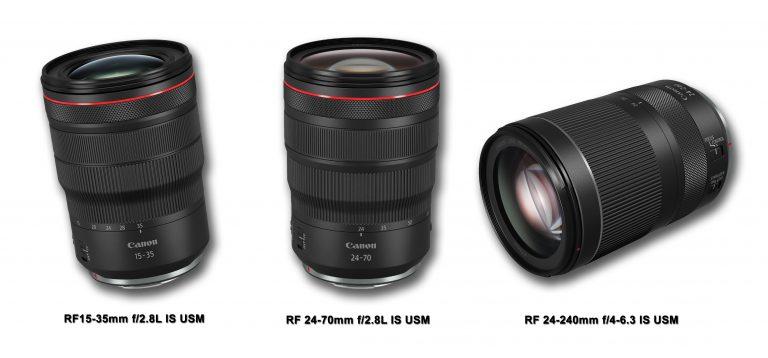Canon Hadirkan 3 Seri Lensa RF Terbaru