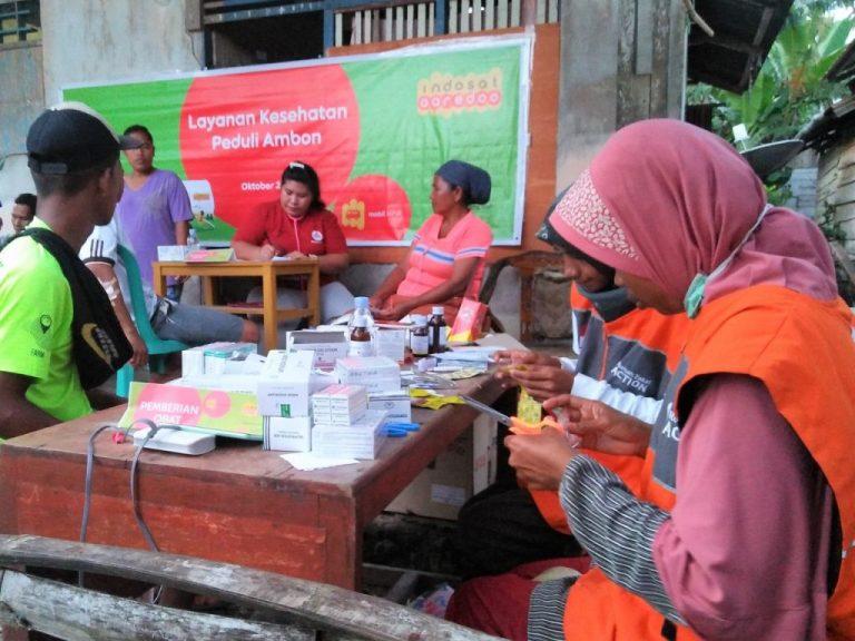 Ringankan Beban Korban Gempa, Indosat Ooredoo Kirim Mobil Klinik ke Maluku