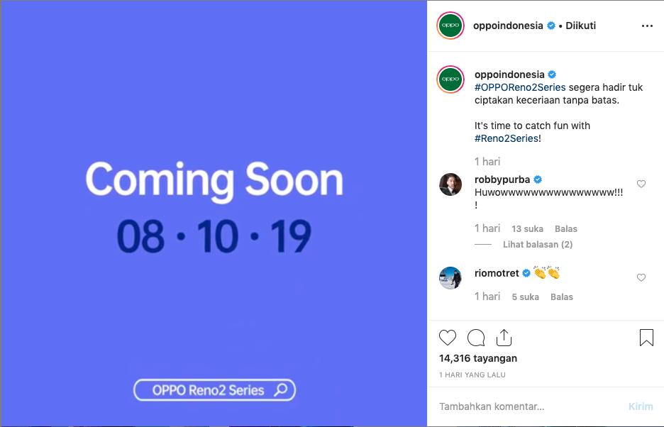 Instagram OPPO