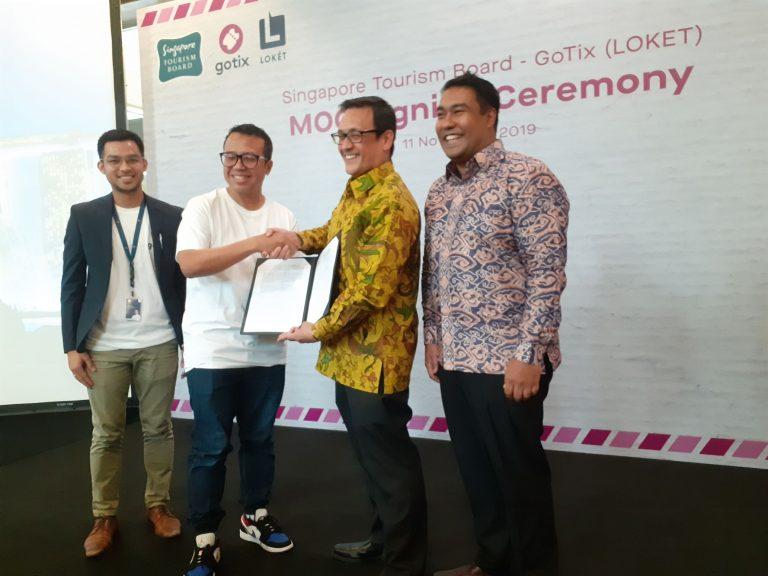 Momentum Go Internasional, GoTix Gaet Singapore Tourism Board Garap Industri Pariwisata
