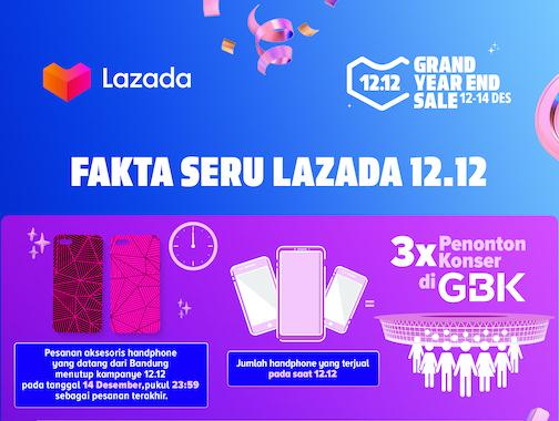 Lazada Lampaui Total Penjualan 12.12 Tahun 2018 Dalam Waktu 19 Jam