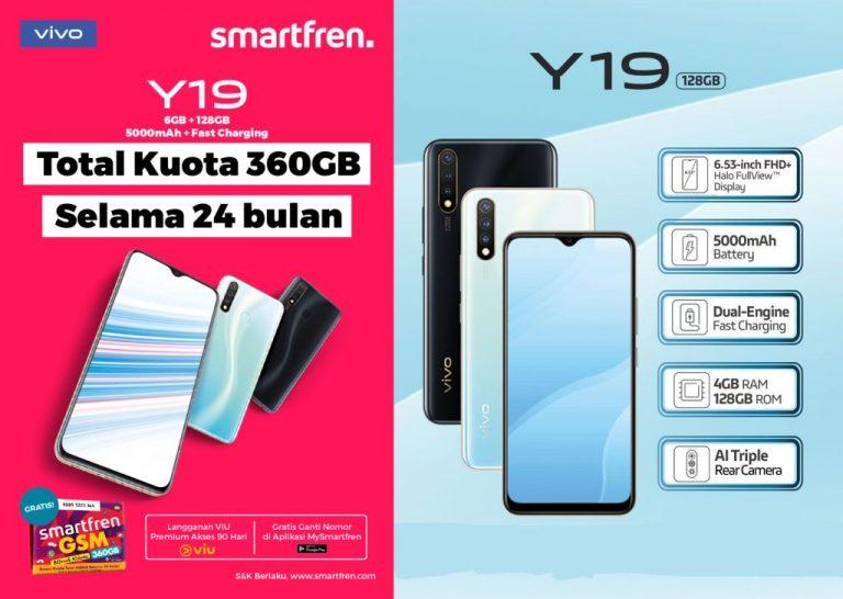 Smartfren Tawarkan Paket Kuota Besar Selama 2 Tahun untuk Pembelian Vivo Y19