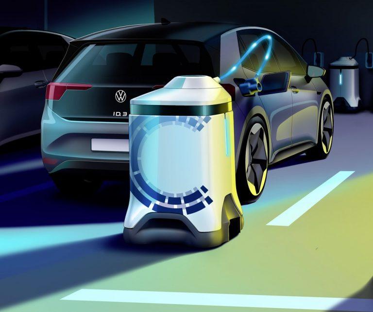 Revolusi Parkir Bawah Tanah, Volkswagen Luncurkan Robot Pengisian Daya