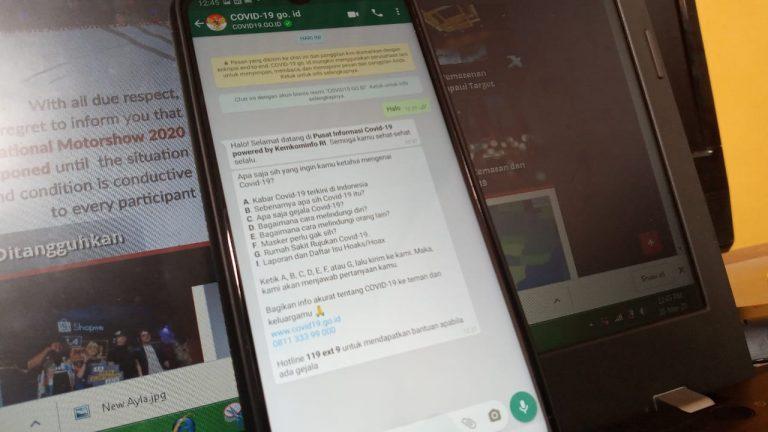 Resmi Diluncurkan, Begini Cara Akses Chatbot WA COVID-19 Milik Pemerintah