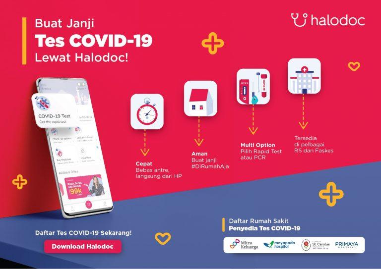 Halodoc Sediakan Fitur Janjian Tes PCR dan Rapid Test di 20 Rumah Sakit