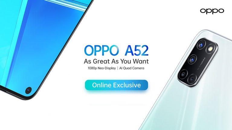 Khusus Dijual dengan Sistem Online, Oppo Hadirkan Oppo A52