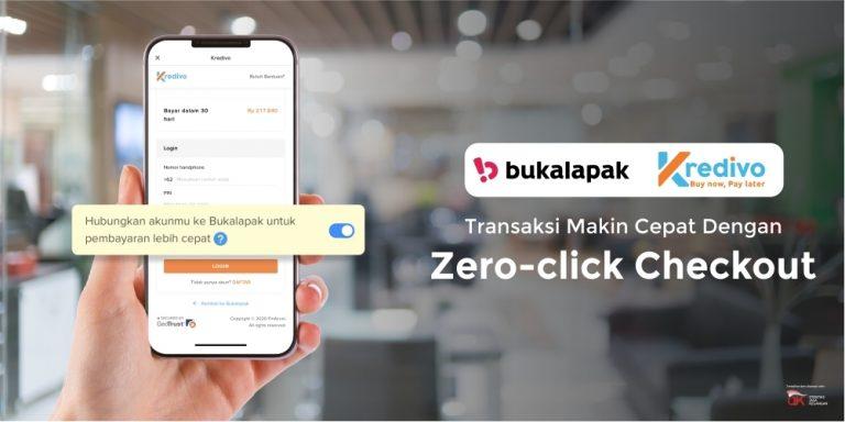 Asyik! Fitur 'Zero-click Checkout' Kredivo Hadir di BukaLapak