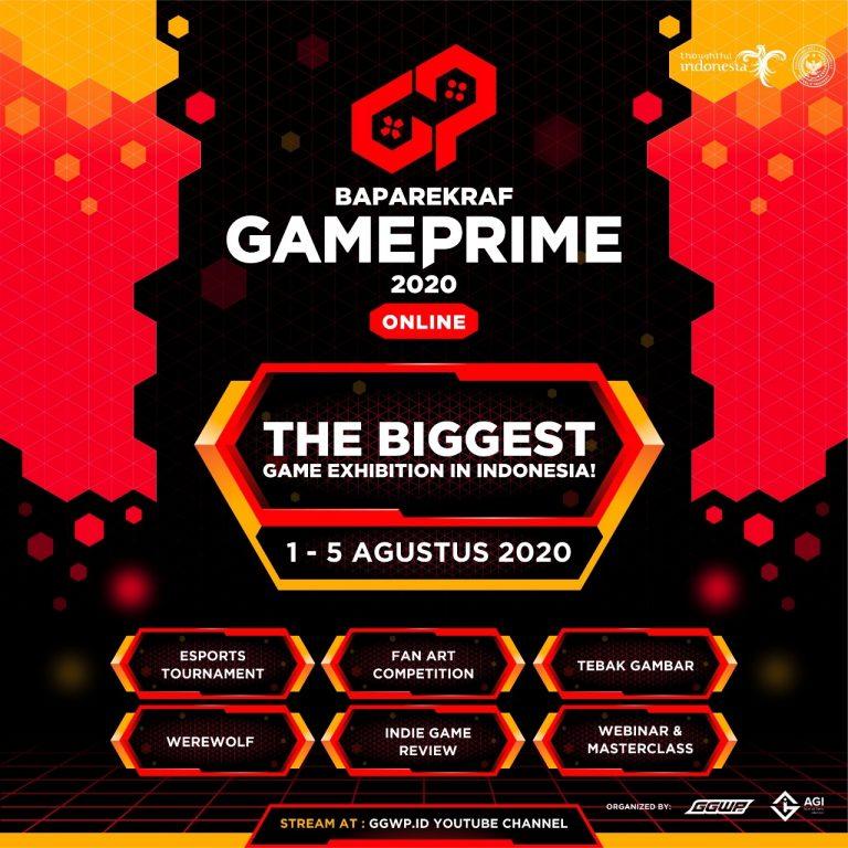Bertabur Hadiah dan Ragam Kegiatan, Baparekraf Game Prime 2020 Online Siap Digelar!