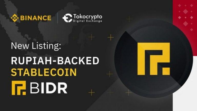 Binance dan Tokocrypto Resmi Tawarkan Stablecoin BIDR Berbasis Rupiah Pertama di Indonesia