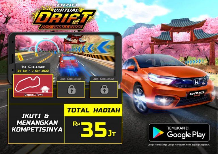 Honda Tiup Peluit Kompetisi 'Brio Virtual Drift Challenge', Total Hadiah Lebih dari Rp35 Juta