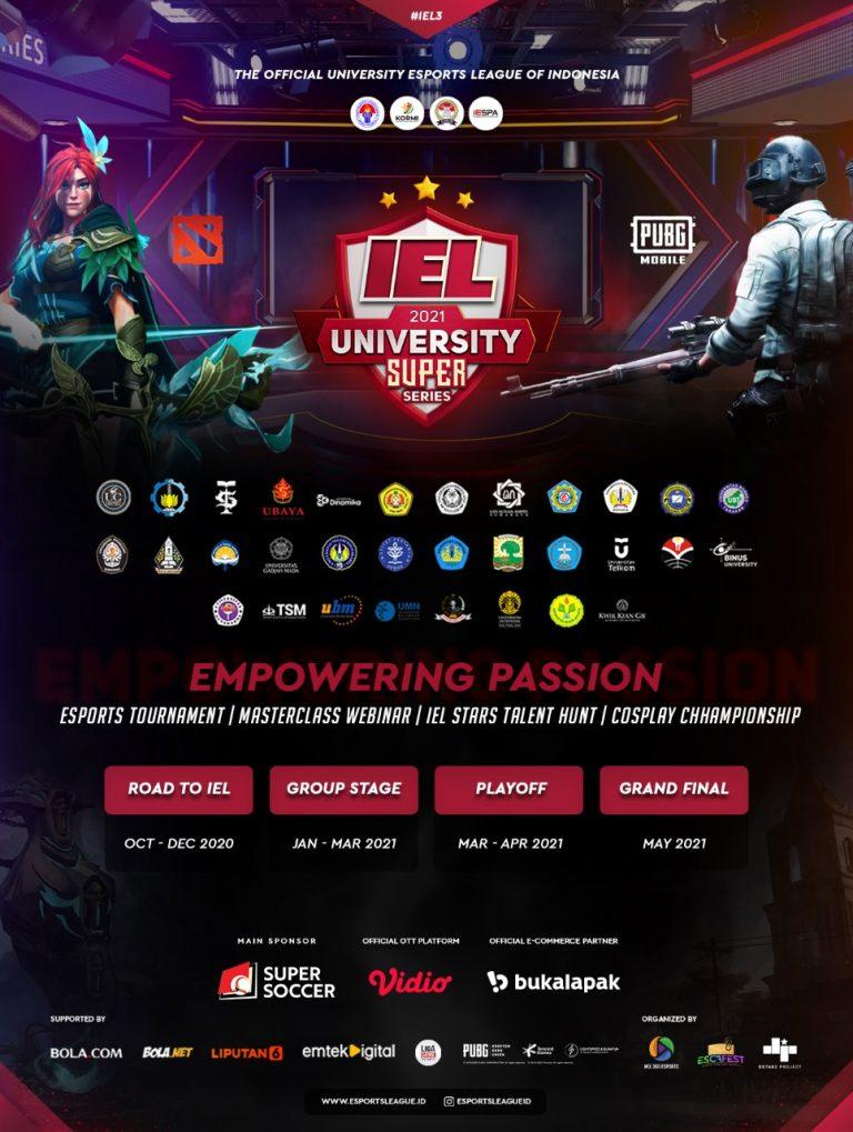 Liga Esports IEL University Super Series Season 3 Resmi Digelar