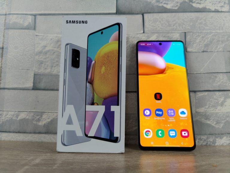 Review Galaxy A71 Haze Crush Silver, Smartphone dengan Fitur Terbaik Lini A-Series di 2020