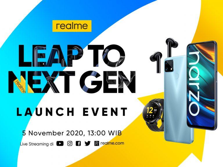 Realme Indonesia Pastikan Kehadiran Narzo 20 Series dan Rangkaian Produk AIoT Baru