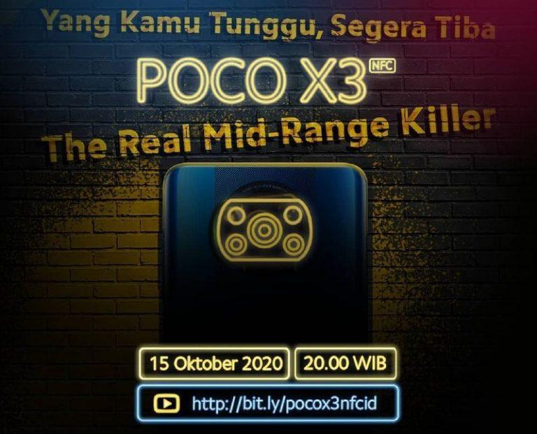 Masuk Tanah Air 15 Oktober 2020, Poco X3 NFC Jagokan Quad Camera dan Layar 120Hz
